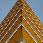 yellow triangle building